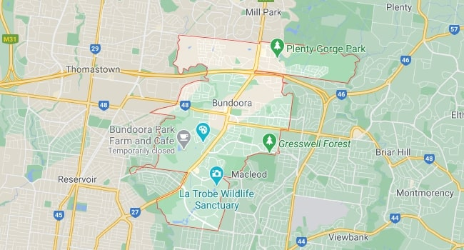 Bundoora Map Area