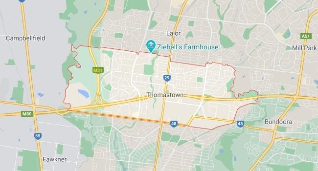 Thomastown Map Area